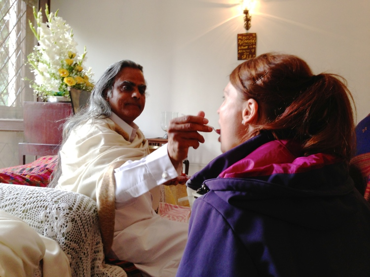 Humility as we were fed by Babaji