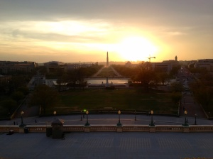 A Washington D.C. sunset off the Speakers' Balcony