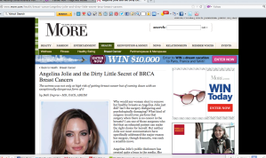 Angelina Jolie and The Dirty Little Secret of the BRCA related cancers